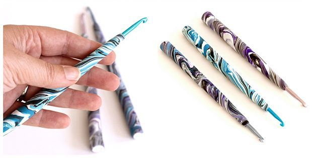 DIY Polymer Clay Crochet Hook Handle