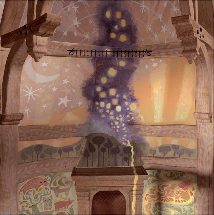 Claireonacloud My Murals In The Movie Tangled Art Mural Disney Rapunzel Animation Disney Aesthetic Disney Rapunzel Disney Wallpaper