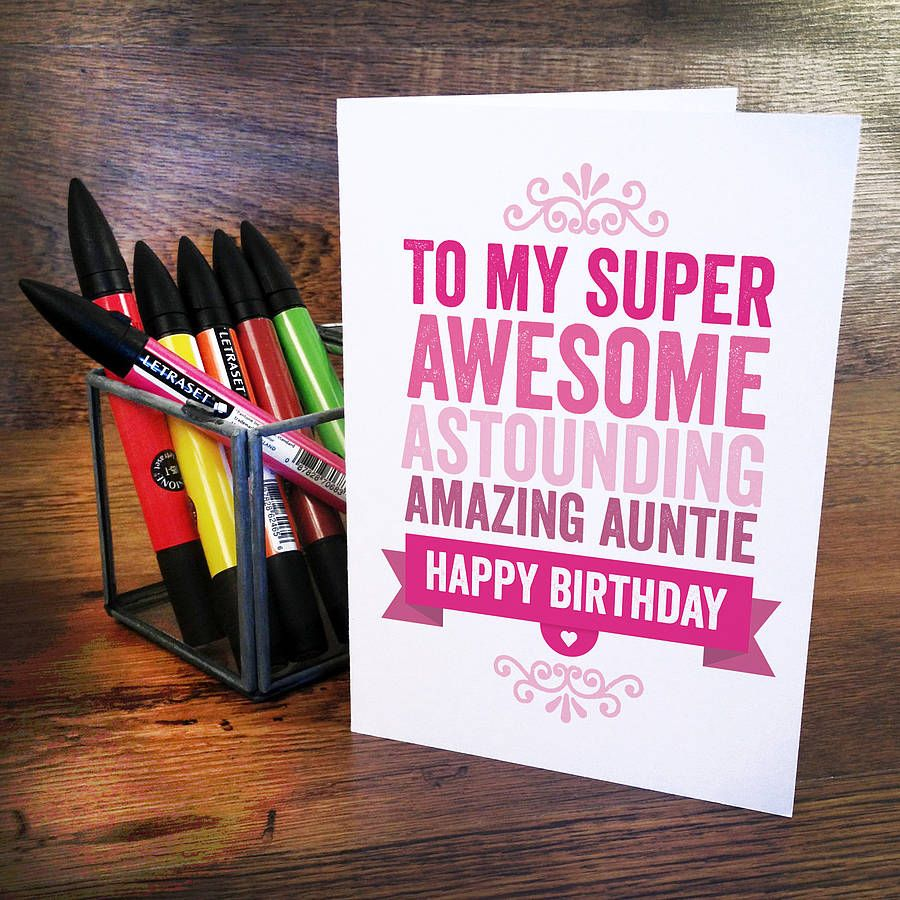 Homemade Birthday Cards For Aunt Google Search Gifts For Her