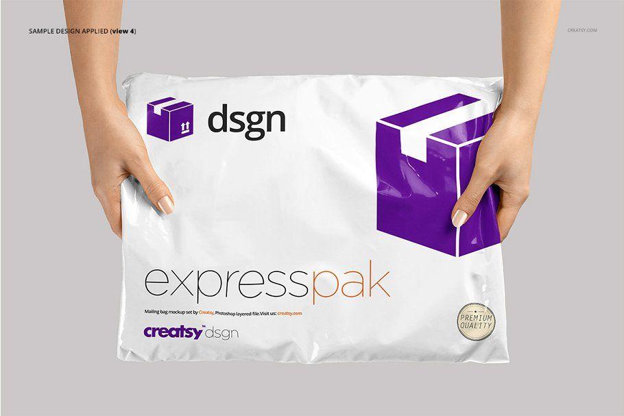 Download Mailing Bag 2 Mockup Set Adobe Illustrator Design Branding Mockups Mockup