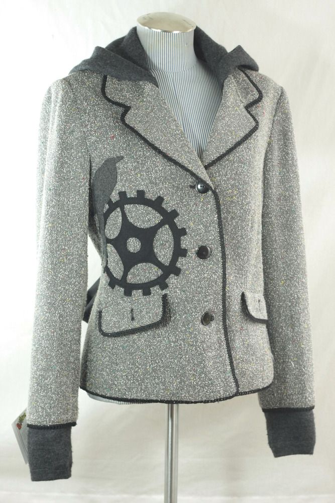 Love this idea! Must try mixing a black blazer with a salmon hoodie ...