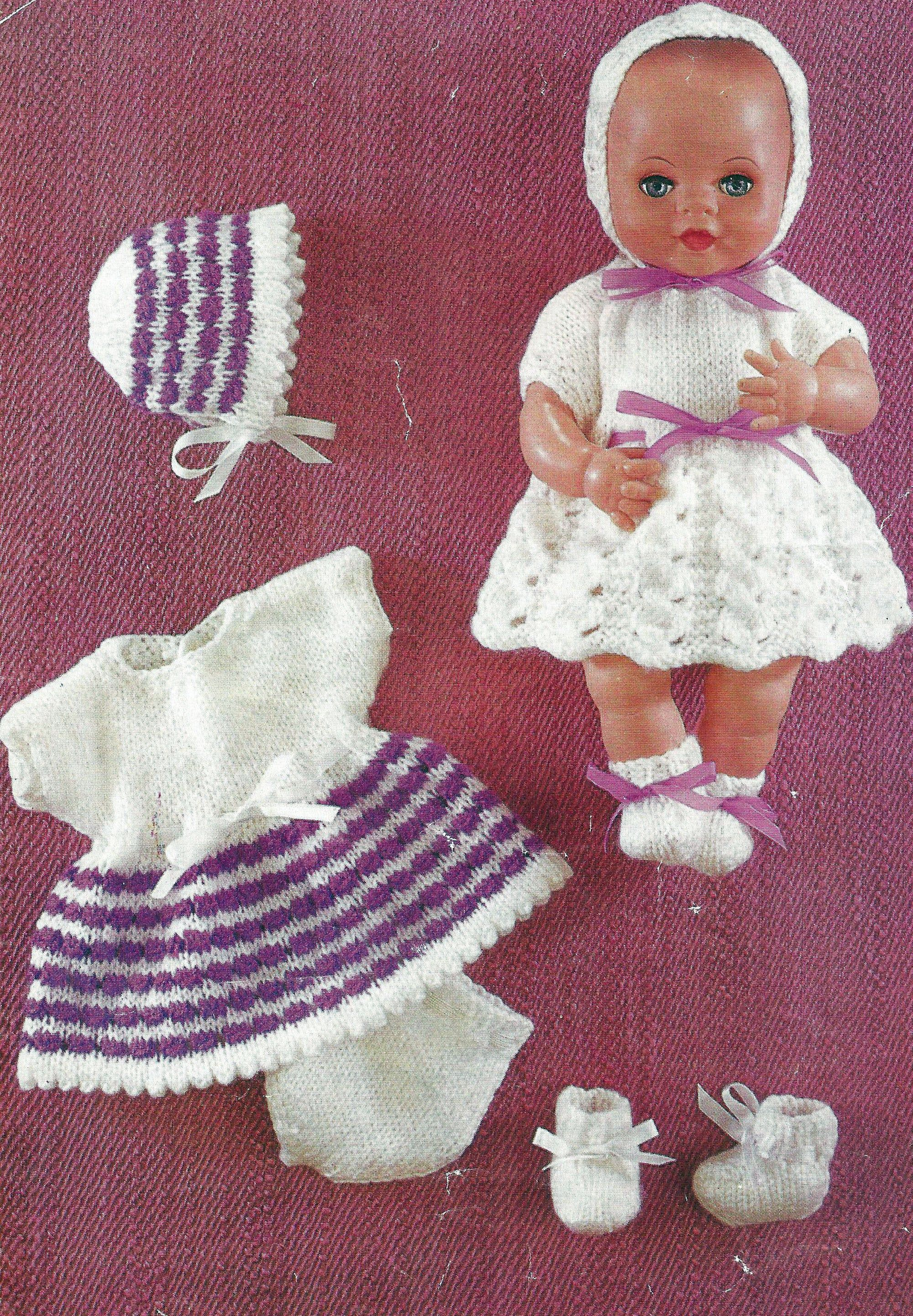 Pdf Instant Digital Download 12 Inch Dolls Clothes Baby Alive Tiny Tears Knitting Pattern 1714 Doll Clothes 12 Inch Doll Clothes Sirdar Knitting Patterns