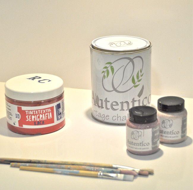 Banderola o guirnalda de tela pintada a mano