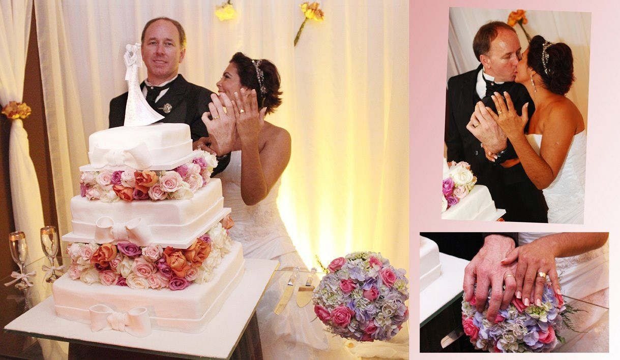 A Beautiful Brazilian Wedding!! First Dance topper looks amazing!  Exclusive ARTIST SIGNATURE piece!http://www.ginafreehillshop.com/languageoflove.html