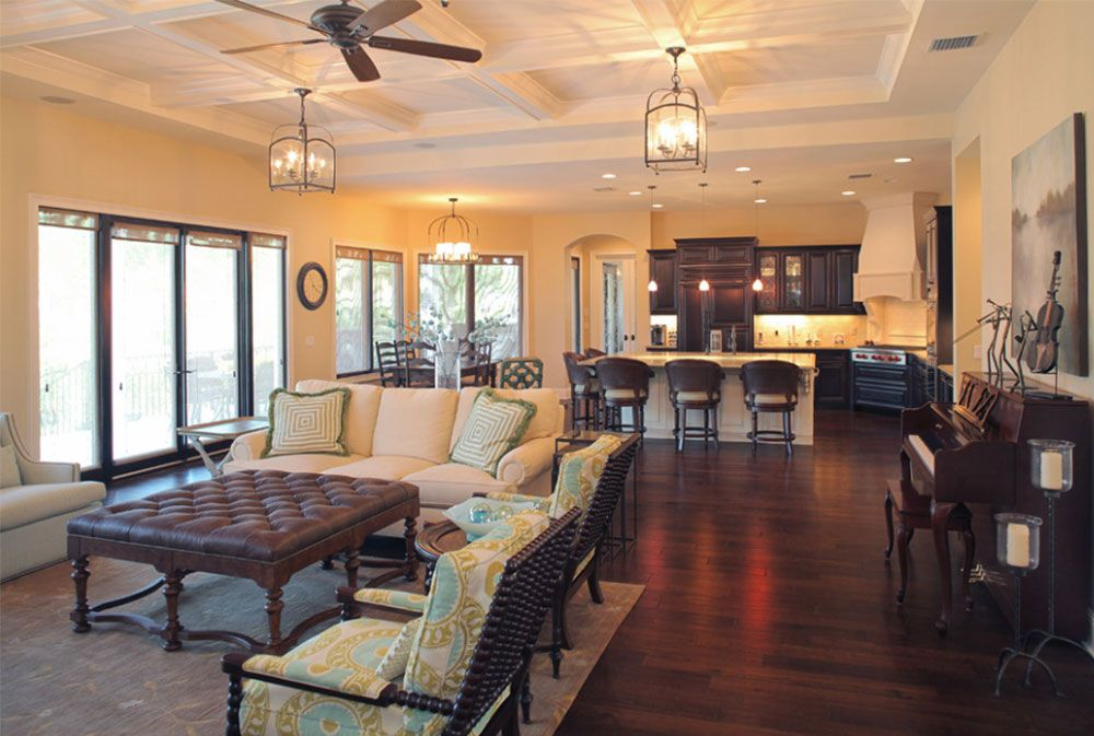 Open Floor Plan Colors And Painting Ideas Mediterranean Living