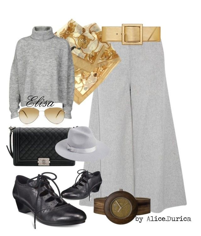 """""""Elisa"""" by alice-durica ❤ liked on Polyvore featuring Bella Vita, Theory, ESCADA, Chanel, Earth, Designers Remix, Lack of Color, Yves Saint Laurent and Oliver Peoples"""