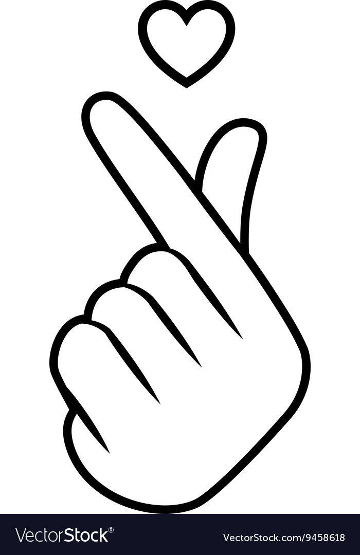 Download Sign icon symbol hand heart vector image on VectorStock ...