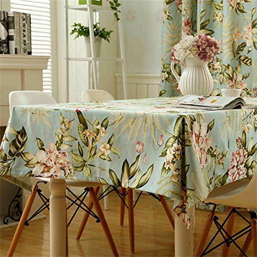 Toym Us American Rural Pastoral Style Small Floral Tablecloths Cotton And Linen Small Fresh Rectangular Table Dining Table Cloth Tablecloth Sizes Table Linens