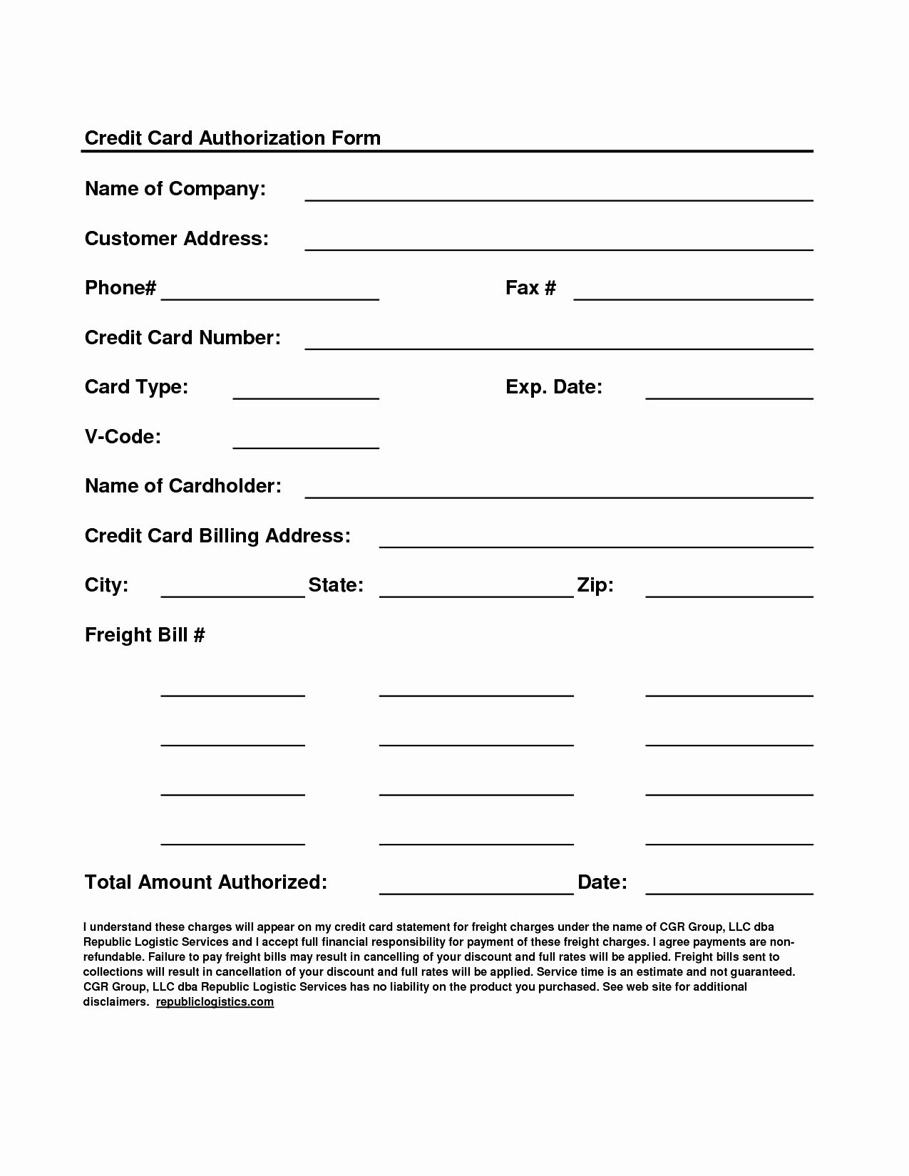 50 awesome credit card authorization form template in 2020