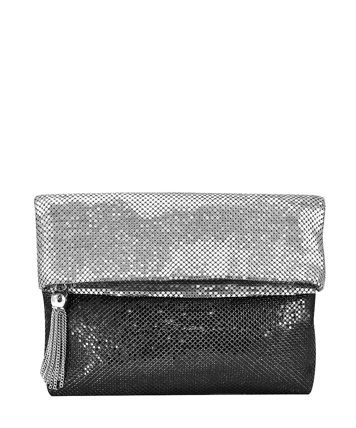 The La Regale Ombre Mesh Foldover Clutch at Bluefly.