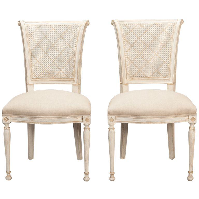 Antique White Dining Room Stunning Set Of 12 French Cane Back Antique White Dining Chairs  White Inspiration Design