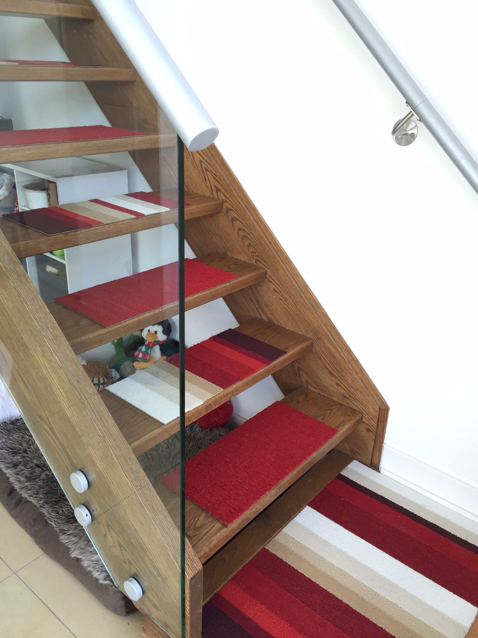 diy stair treads from flor carpet tiles