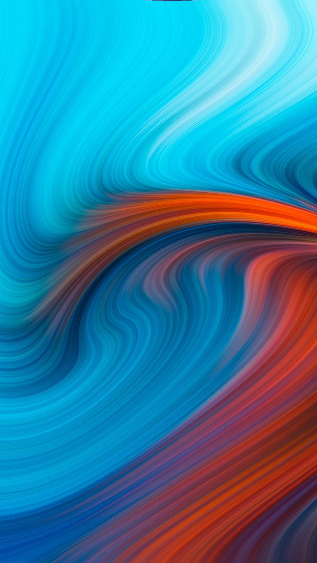 1080x1920 Blue Orange Swirl Pattern Abstraction Wallpaper Blue Design Graphic Oneplus Wallpapers Abstract