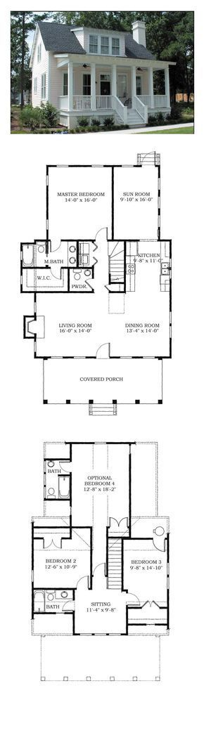 Photo of COOL House Plan ID: chp-38703 | Total living area: 1783 sq. Ft., 4 bedrooms …