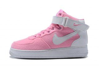 the latest 2fa4d 36fe4 Womens Nike Air Force 1 High Sneakers Pink White 334031 611