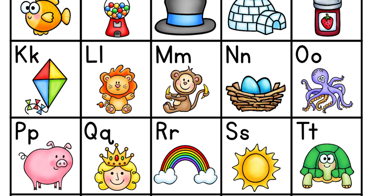 Cvc Charts Kindergarten Anchor