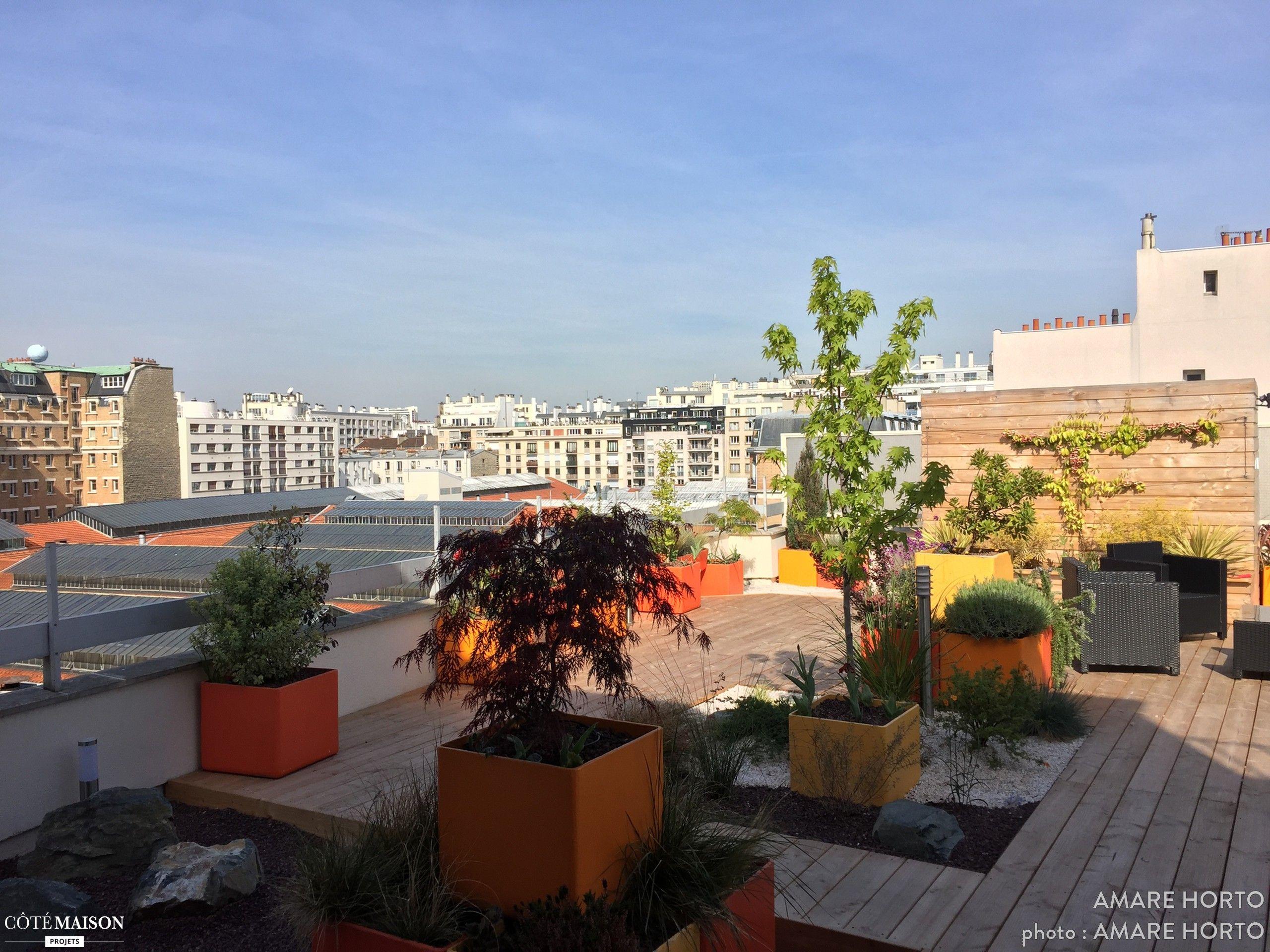 grande terrasse roof top a paris 15eme