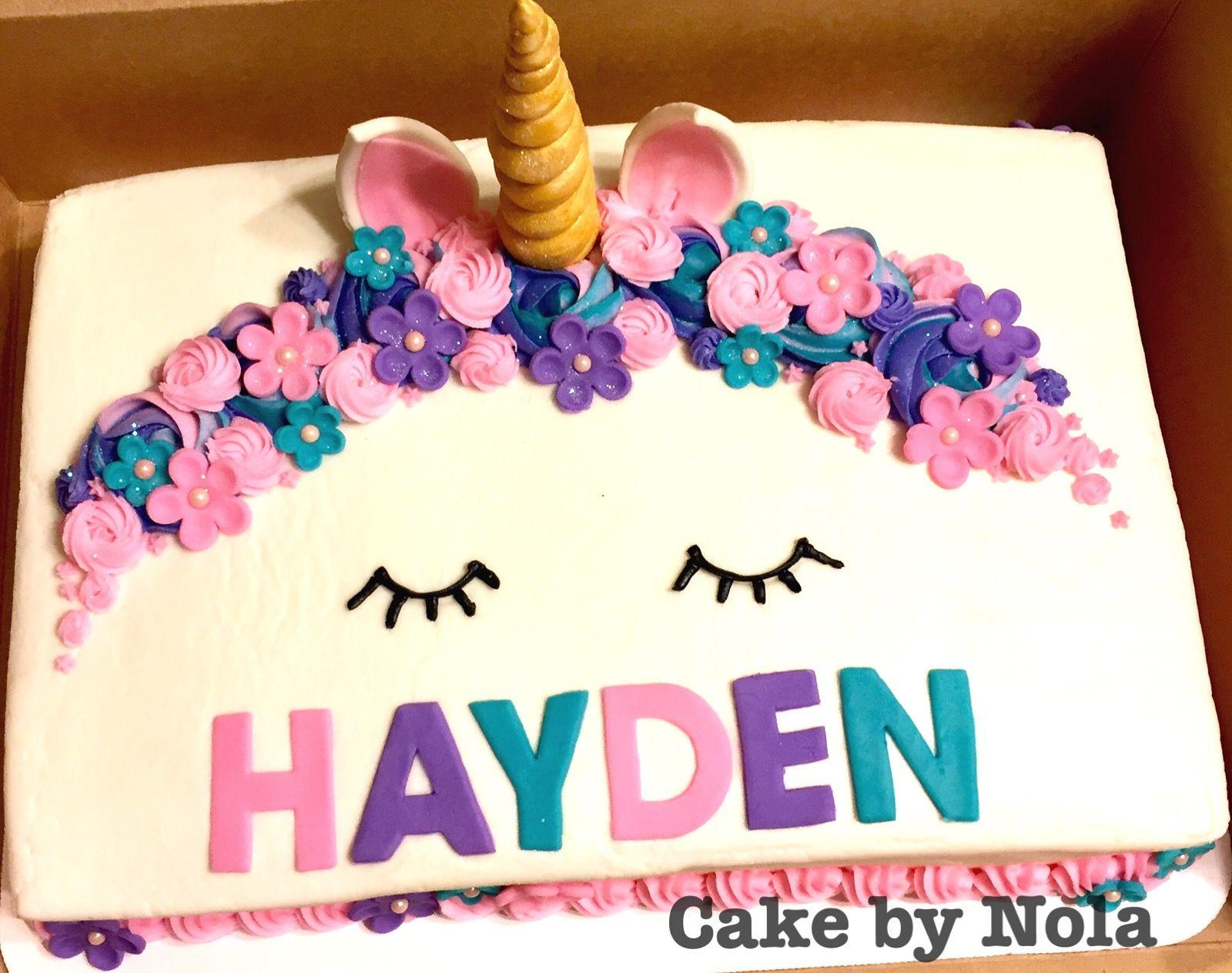 Unicorn Themed Sheet Cake Cakedecorating