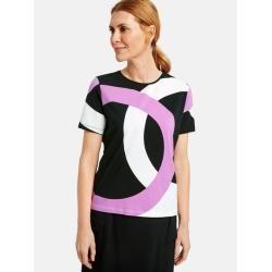 Photo of Gerry Weber 1/2 Arm Shirt with Kringelprint Offwihte / Black / Purple Ladies Gerry Weber