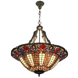 dining room white grey red tiffany pendant lamp tiffiney n such
