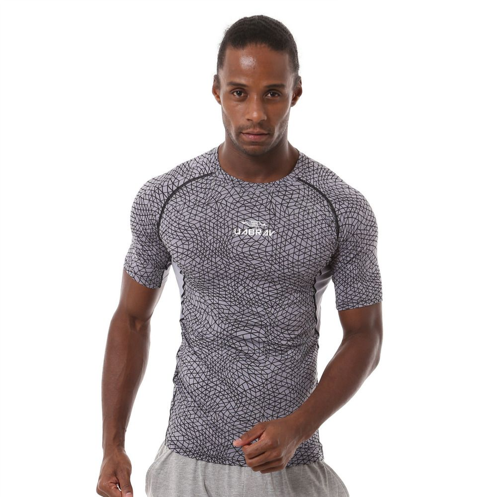 Men's PRO Short-sleeve Perspiration Quick drying Running Training T-shirts Foottball clothes Tights Sports Fitness Gym T-shirt