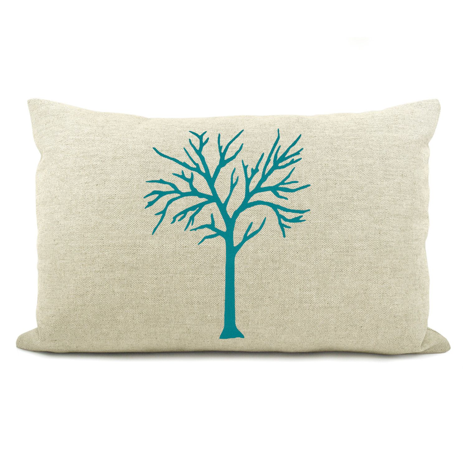 Personalized woodland inspired tree pillow case cushion cover