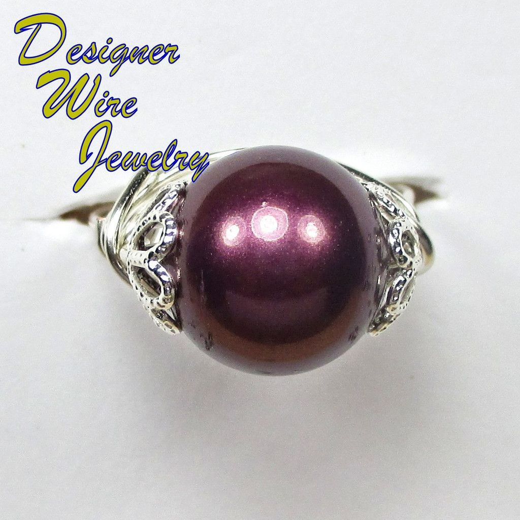 Retails for $39.99 Your Price is Only 19.99 Regardless of if it's just that one special #ring, or maybe a treasure trove of our Semi-Precious Gemstone #Rings your Artisan Crafted Ring, created just for you, will always be one of a kind. DWJ0164 Beautiful Eggplant Purple Shell Pearl Wire Wrap Ring All Sizes
