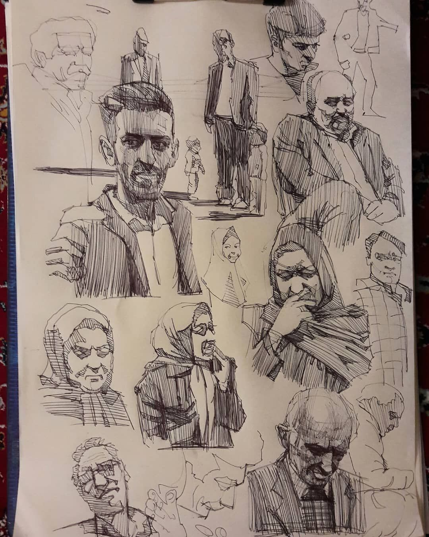 Sketchbook Sketching Polar Bear Sketchbook Portrait