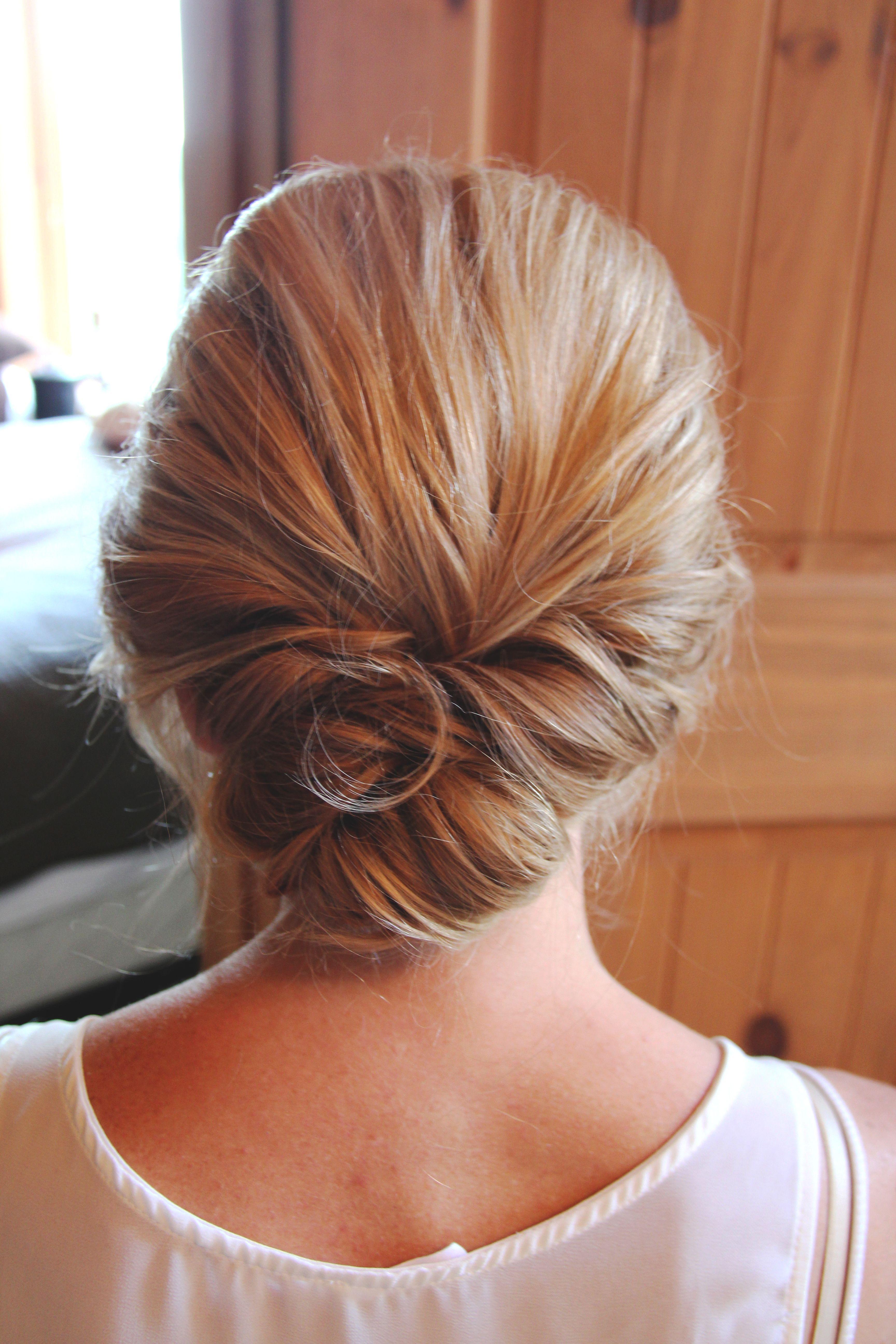 Loose Low Updo Hbm Studios Short Wedding Hair