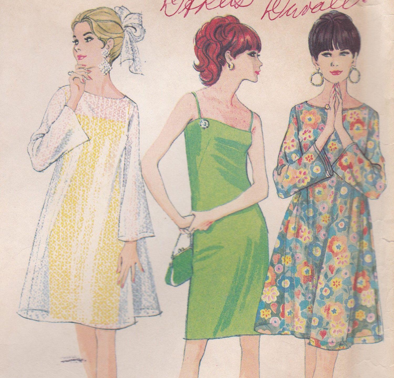 1960s Slip Dress & Over Dress Pattern McCalls 8805 Size 18 by OneMoreCupOfTea on Etsy https://www.etsy.com/listing/217756620/1960s-slip-dress-over-dress-pattern