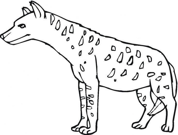 Hyena 17 Hyena Coloring Pages Preschool Letter Crafts