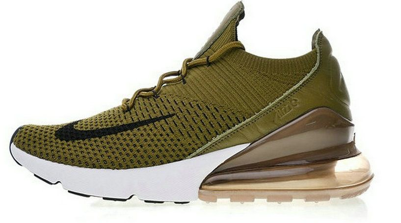new concept 085fa 00f0a Preferential Price Nike Air Max 270 Flyknit Olive Black Ao1023 300 03  Sneaker