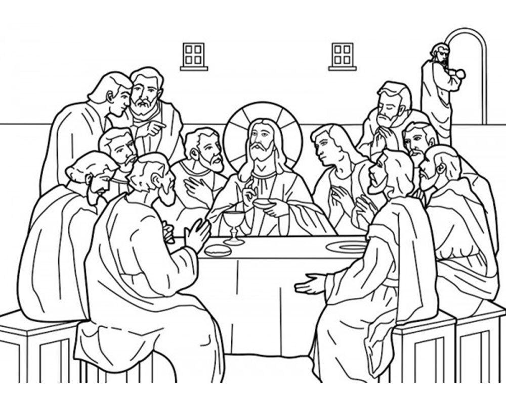 imagenes de la ultima cena para colorear | Imagenes y Frases Feliz ...