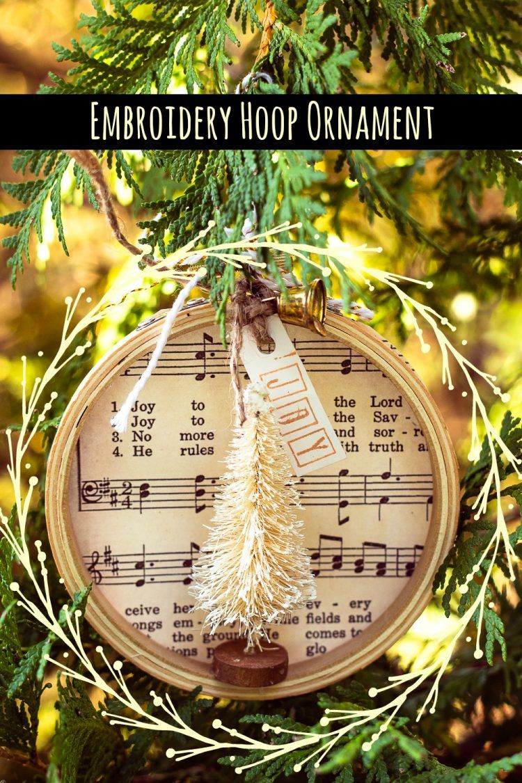 How To Make A Simple Embroidery Hoop Christmas Ornament Christmas Ornaments Handmade Christmas Ornaments Christmas Embroidery