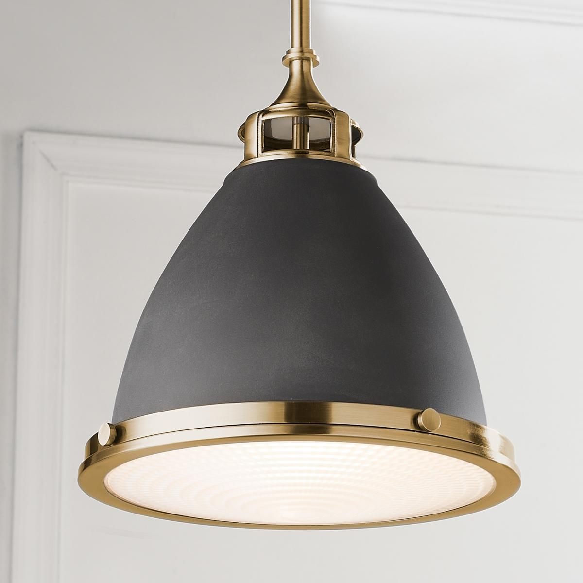 Mixed Metal Schoolhouse Pendant Island Lights