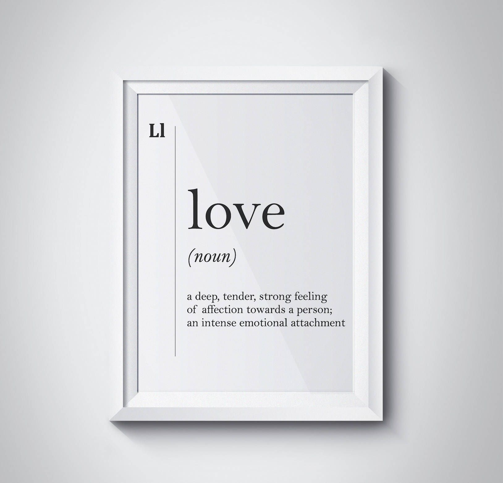 Love Definition Print, Valentines Gift, Wall Art Prints, Love Wall Art, Definition Print, Modern Art, Love Art, Minimalism, #HQDEF020 by HQstudio on Etsy