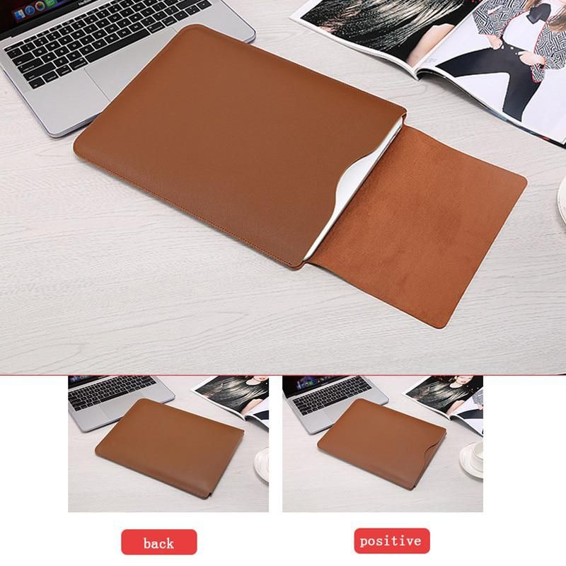 PU Leather Laptop Sleeve Bag For Macbook Air 13.3/'/' 15.4 Notebook Case Cover New