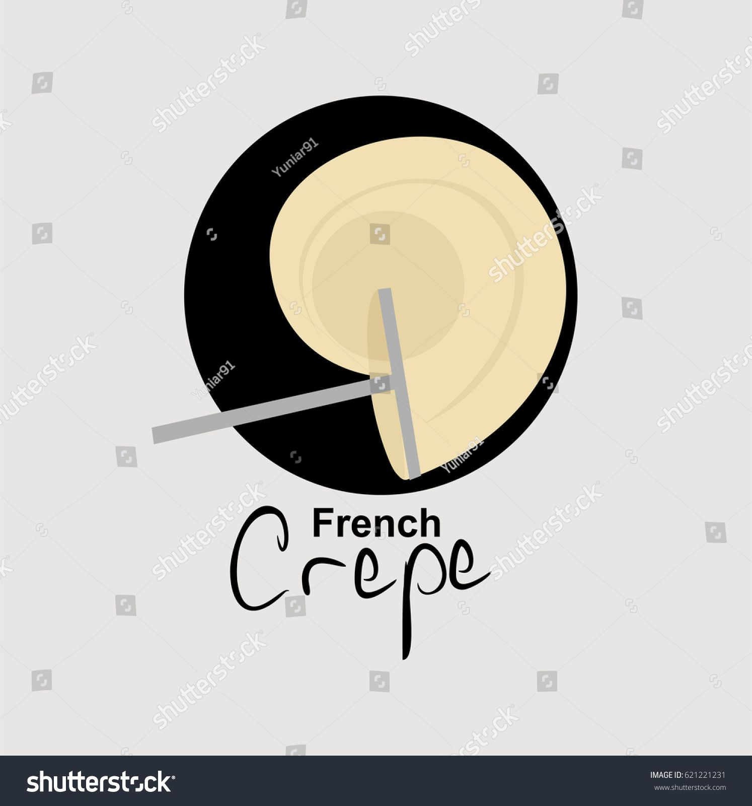 French Crepe logo vector illustration   Creperia, Disenos de unas, Patio de comidas