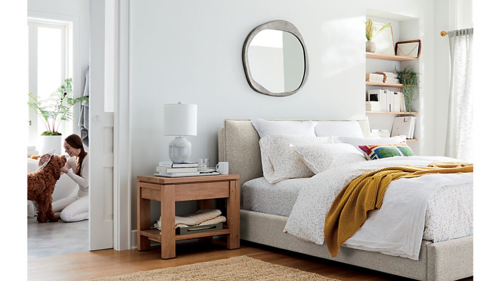 Lotus Bed Crate And Barrel Curtain Rods
