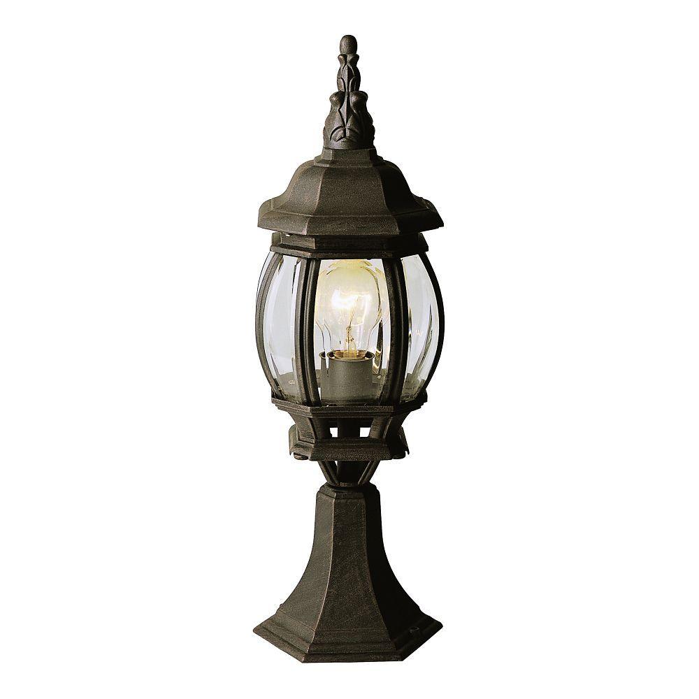 Best Gilded Black Pier Mount Post Light Lantern Post Trans 400 x 300