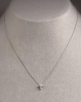 Roberto Coin Baby Cross Necklace SABMVw