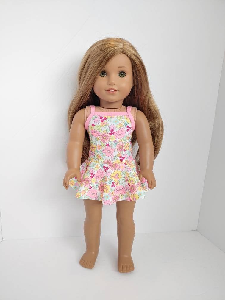 18 inch doll clothes Fits like American girl doll dresses .18 inch doll clothes 18 inch doll clothing Floral print dress
