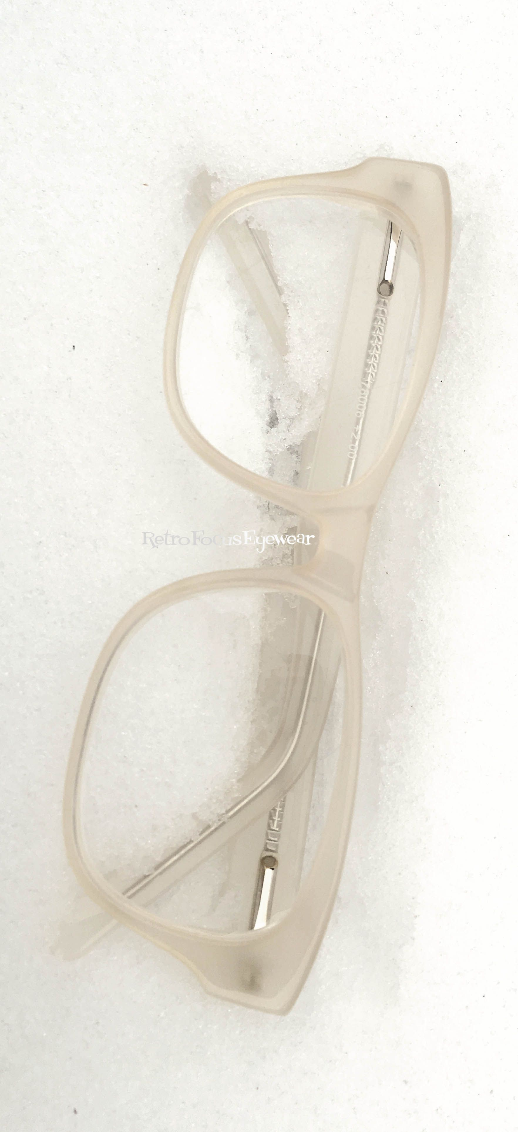 Milky white hipster hornrim reading glasses/eyeglass frames. Eyewear ...