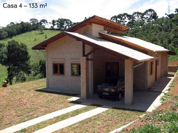 Casas pequenas 5 projetos de 45 at 130m casas for Casas de campo economicas