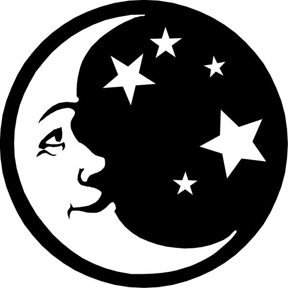 man in the moon clipart - photo #12