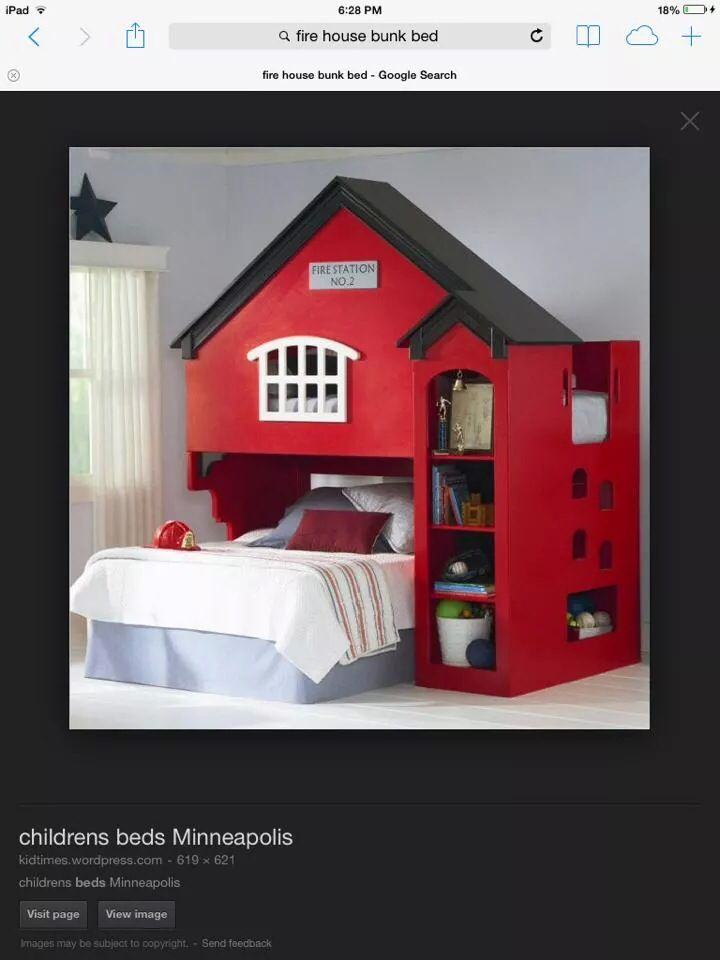 Kids Firehouse Bunk Bed Baby Hill S Nursery Bedroom Kids Room