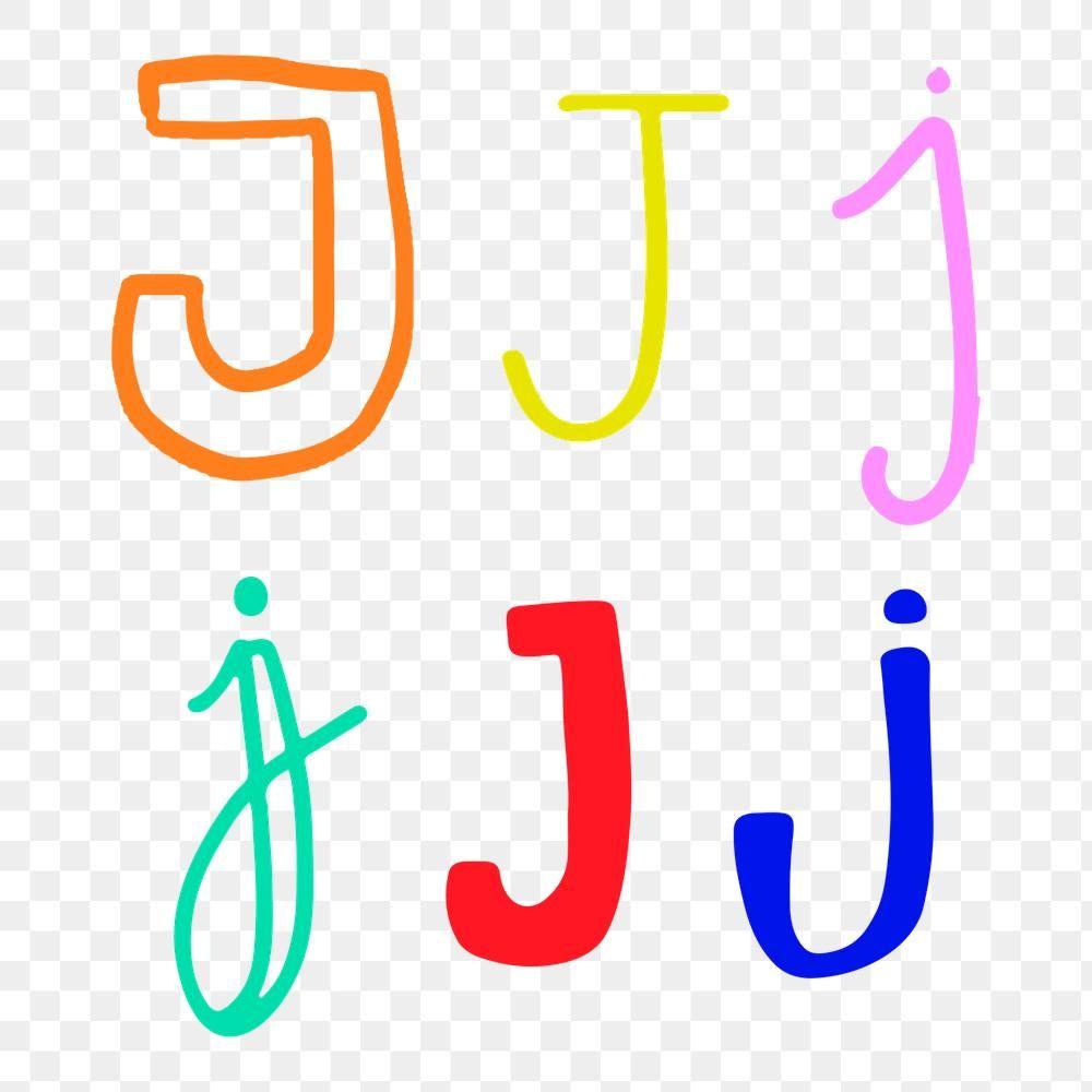 Doodle Letter J Typography Png Set Free Image By Rawpixel Com Aum Doodle Lettering Lettering Doodle Alphabet