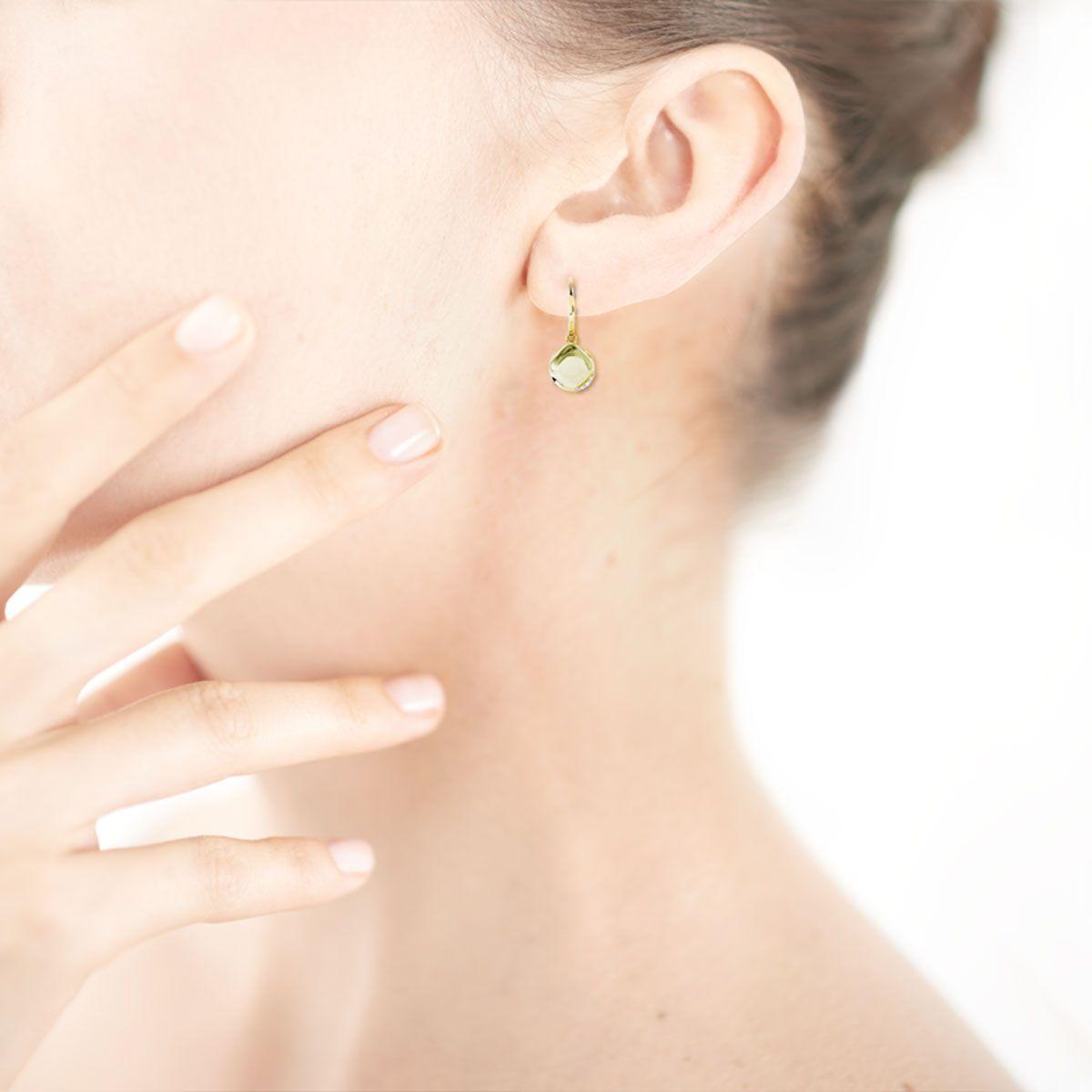 585 or Boucles d/'oreille petites étoiles TAILLE 3,5 mm 1 paire