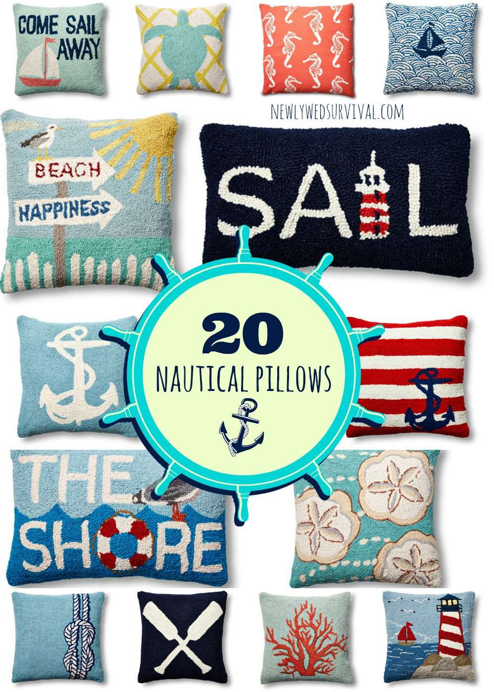 Feel Like You Are Near The Ocean Year Round With One Of These Nautical Throw Pillows