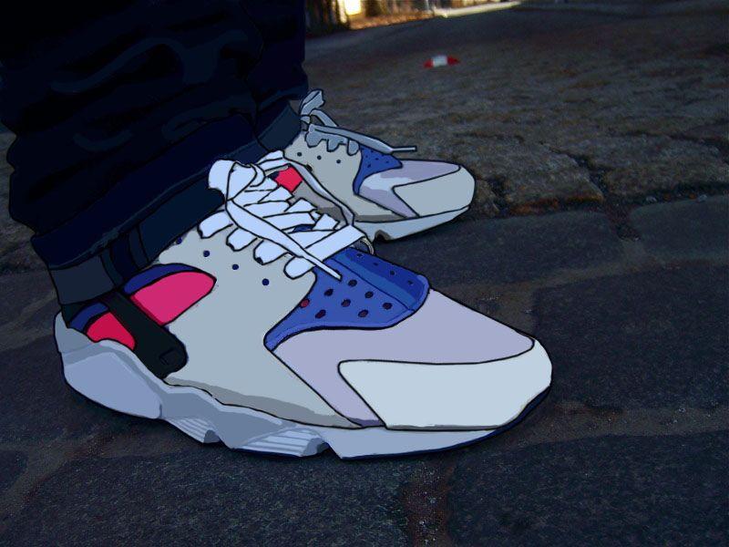 Original Nike Air Huarache Cartoon shoes